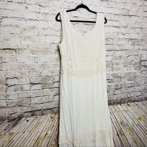 Cato Crochet Ivory Maxi Dress SZ 22/24W